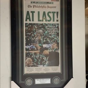 Eagles Super Bowl LII Inquirer Newspaper framed